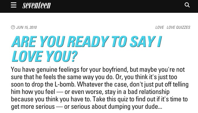 psychology today dating questions